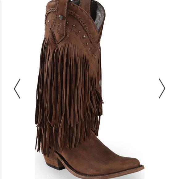ea81f040964 Liberty Black Vegas Fringe Boots - Pointed Toe